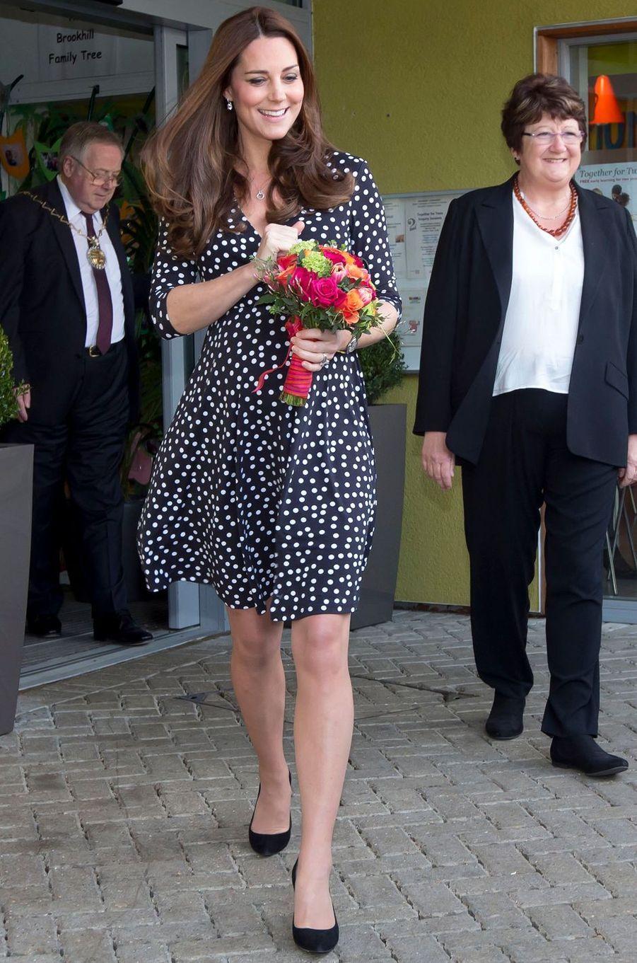 La duchesse Catherine de Cambridge en Asos à Londres, le 18 mars 2015