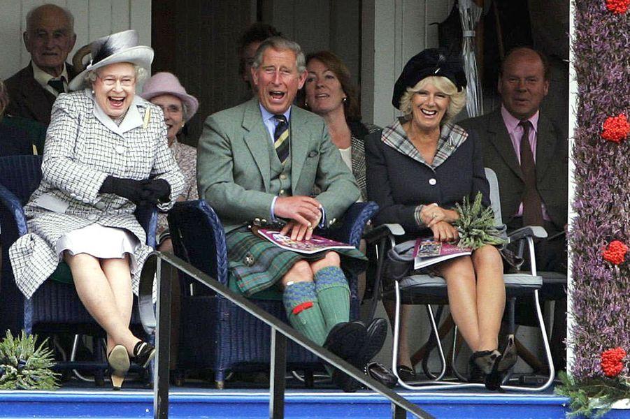 La reine Elizabeth II au Highland Braemar Gathering, le 2 septembre 2006