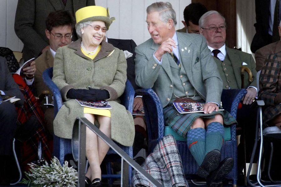 La reine Elizabeth II au Highland Braemar Gathering, le 5 septembre 2009