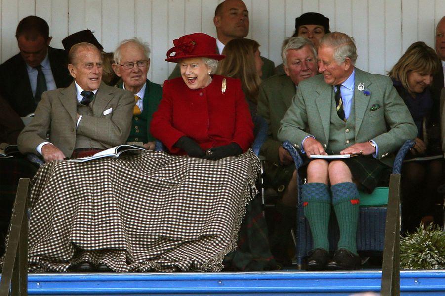 La reine Elizabeth II au Highland Braemar Gathering, le 5 septembre 2015