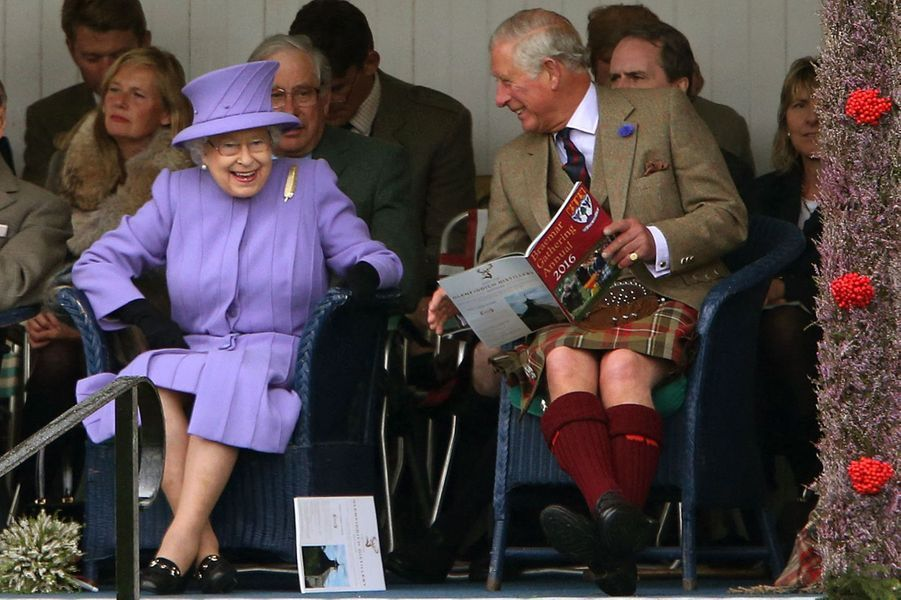 La reine Elizabeth II au Highland Braemar Gathering, le 3 septembre 2016