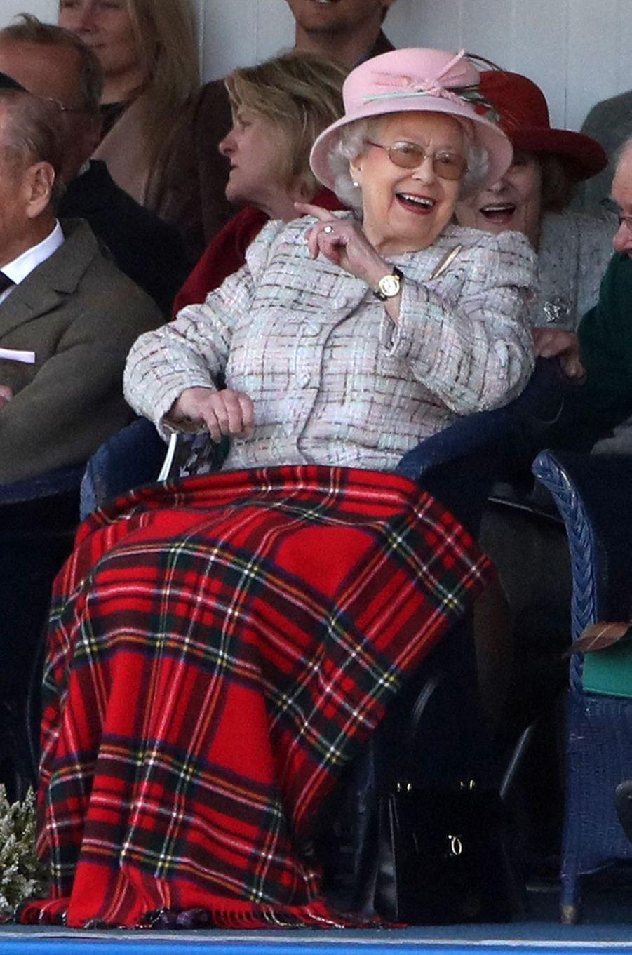 La reine Elizabeth II au Highland Braemar Gathering, le 2 septembre 2017