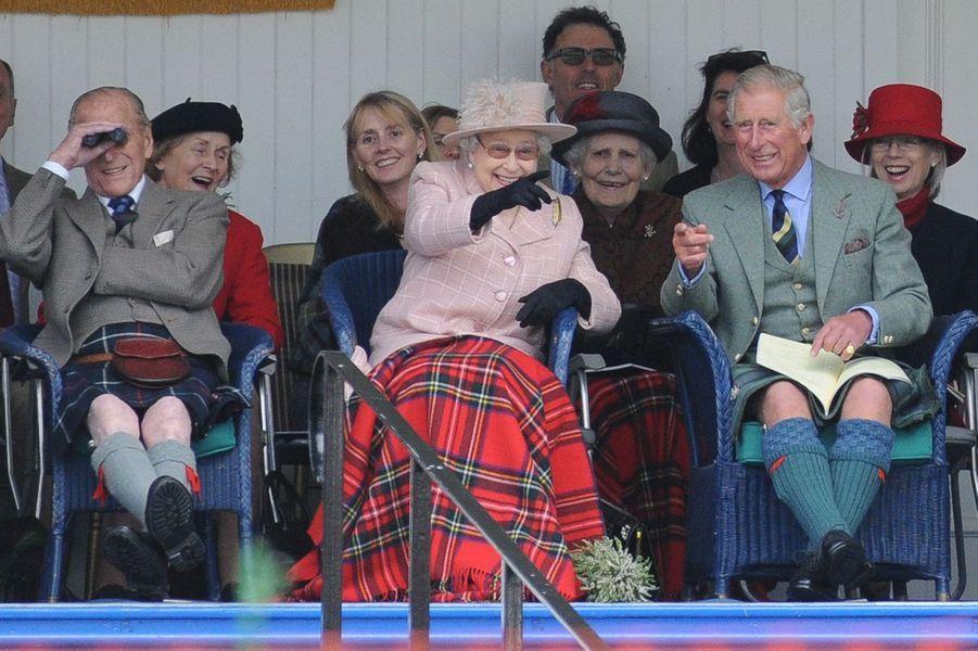 La reine Elizabeth II au Highland Braemar Gathering, le 7 septembre 2013