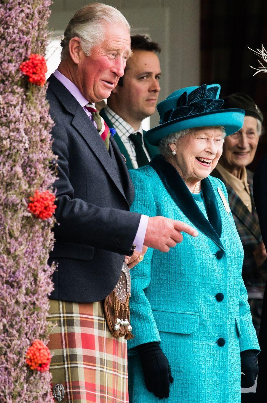 La reine Elizabeth II au Highland Braemar Gathering, le 1er septembre 2018