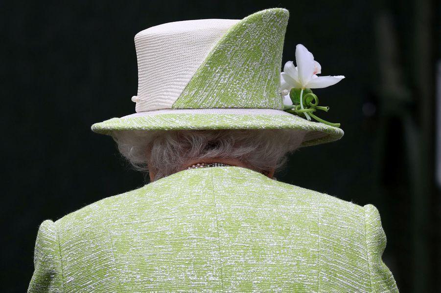 Le chapeau de la reine Elizabeth II à Edimbourg, le 4 juillet 2019