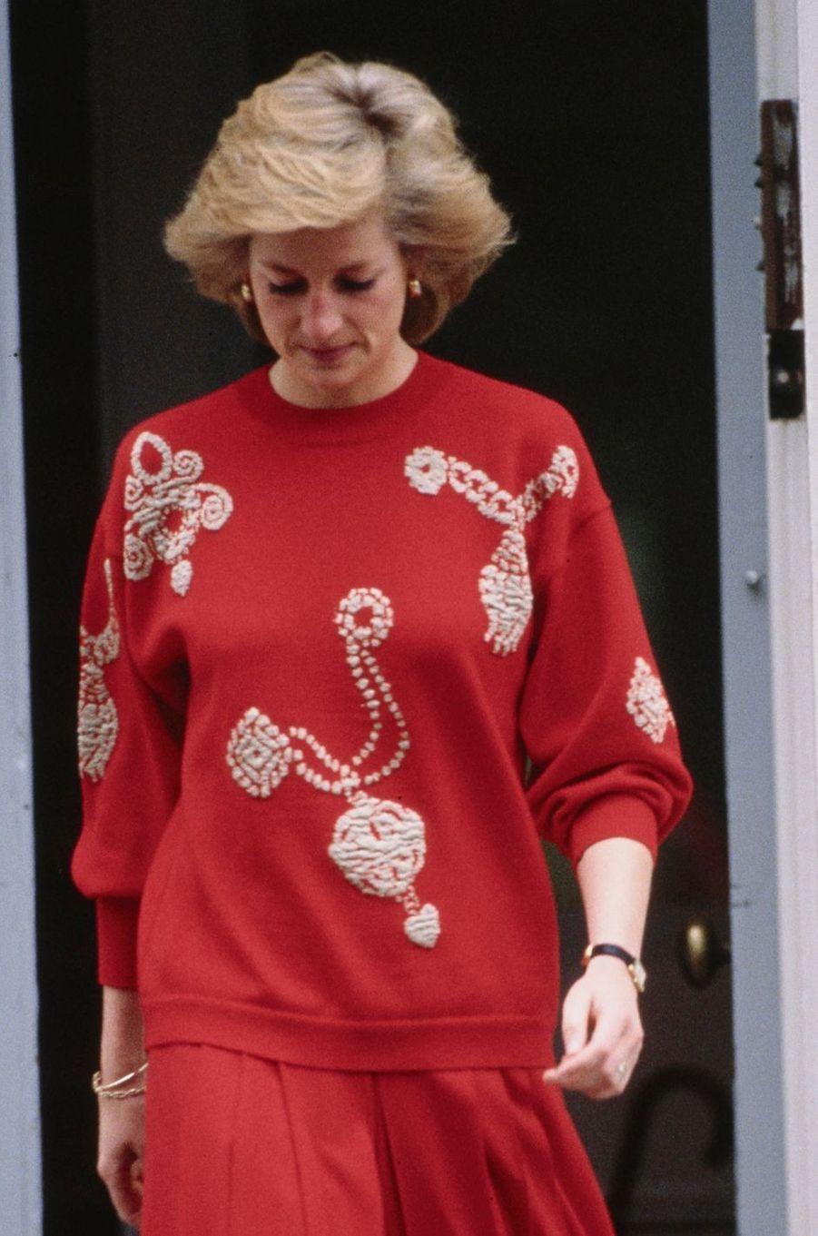 Le pull de la princesse Diana, en septembre 1989