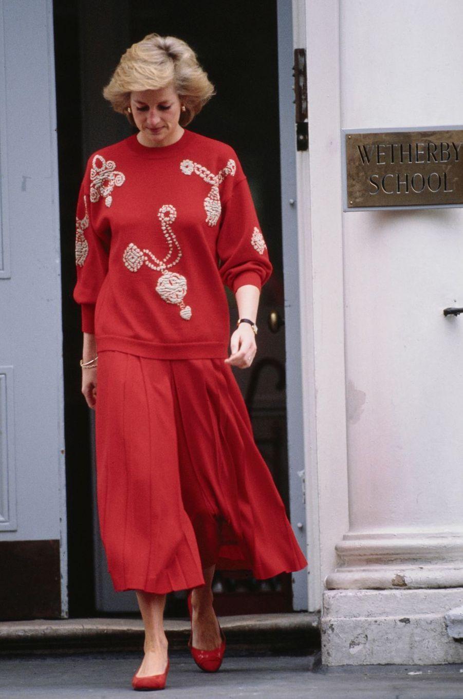 La princesse Diana, en septembre 1989