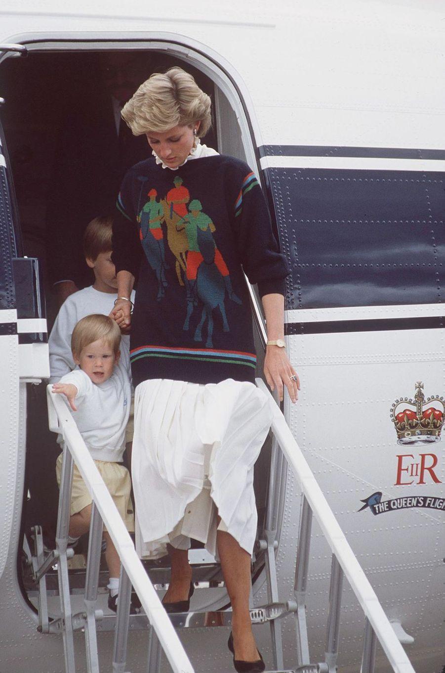 La princesse Diana, le 16 août 1986