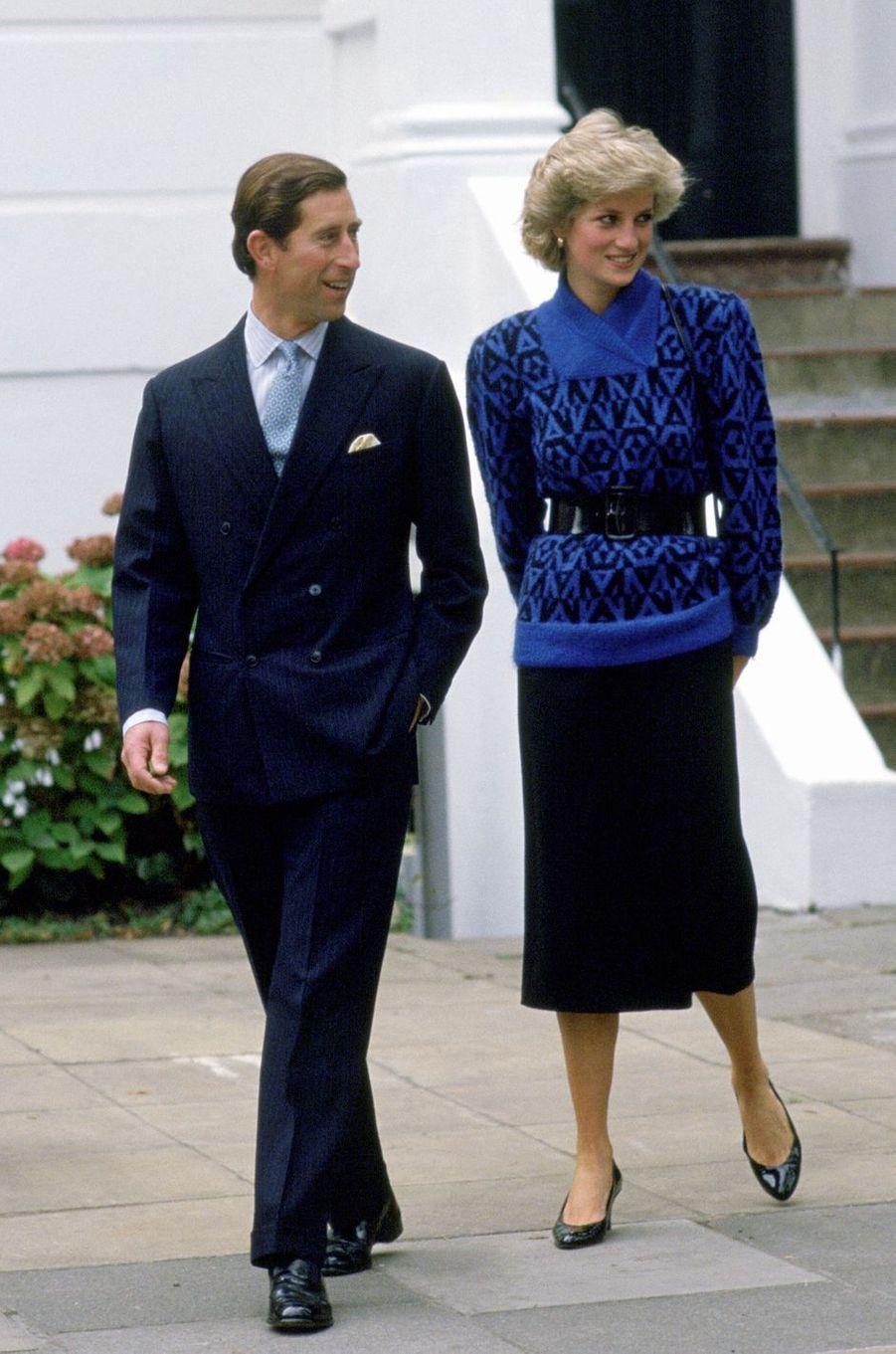 La princesse Diana, le 24 septembre 1985
