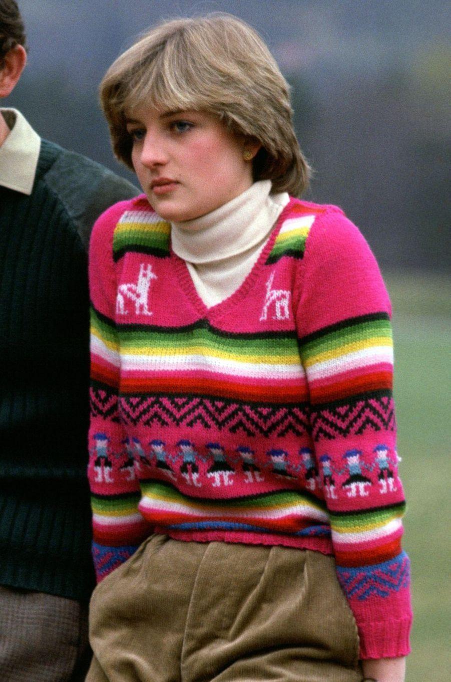Le pull de Lady Diana Spencer le 6 mai 1981