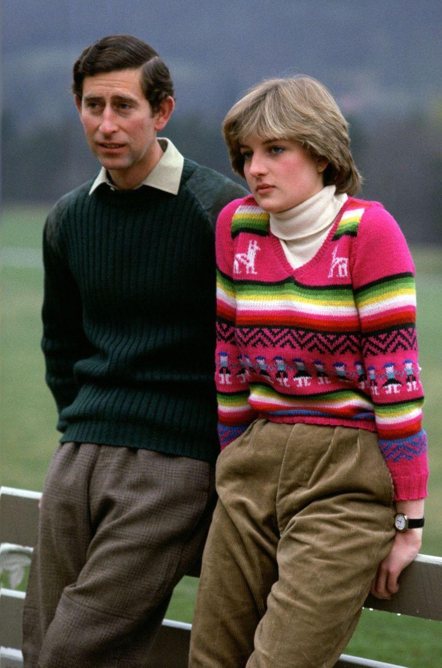 Lady Diana Spencer le 6 mai 1981, avant son mariage avec le prince Charles