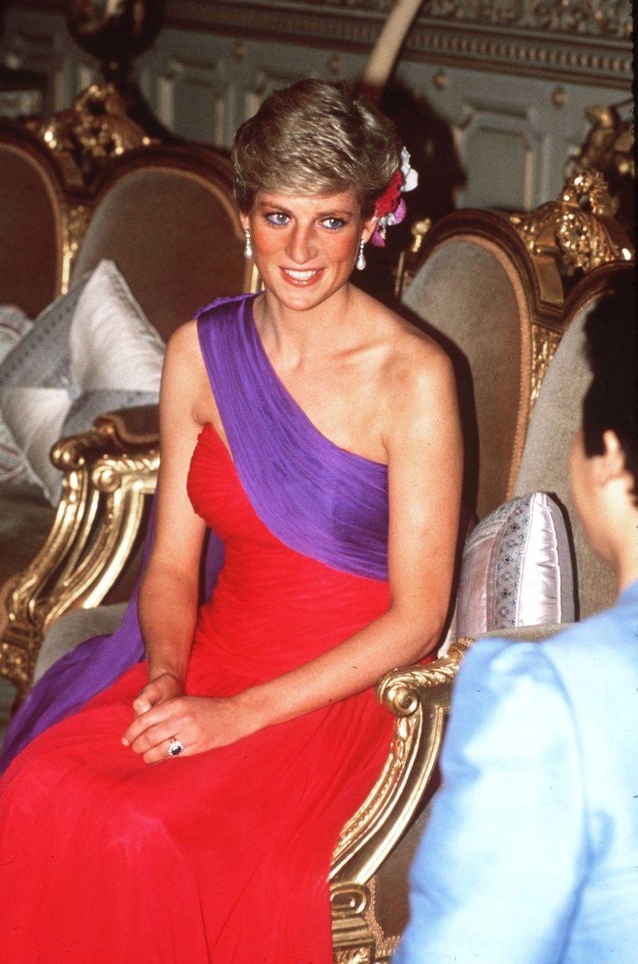 Lady Diana à Bangkok, en février 1988