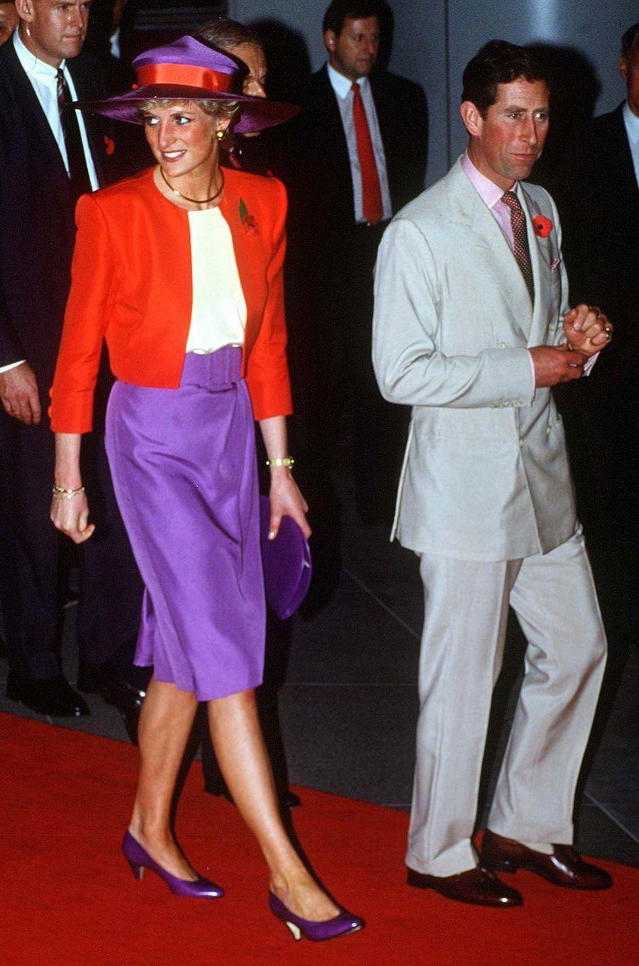 Lady Diana à Hong-Kong, le 8 novembre 1989