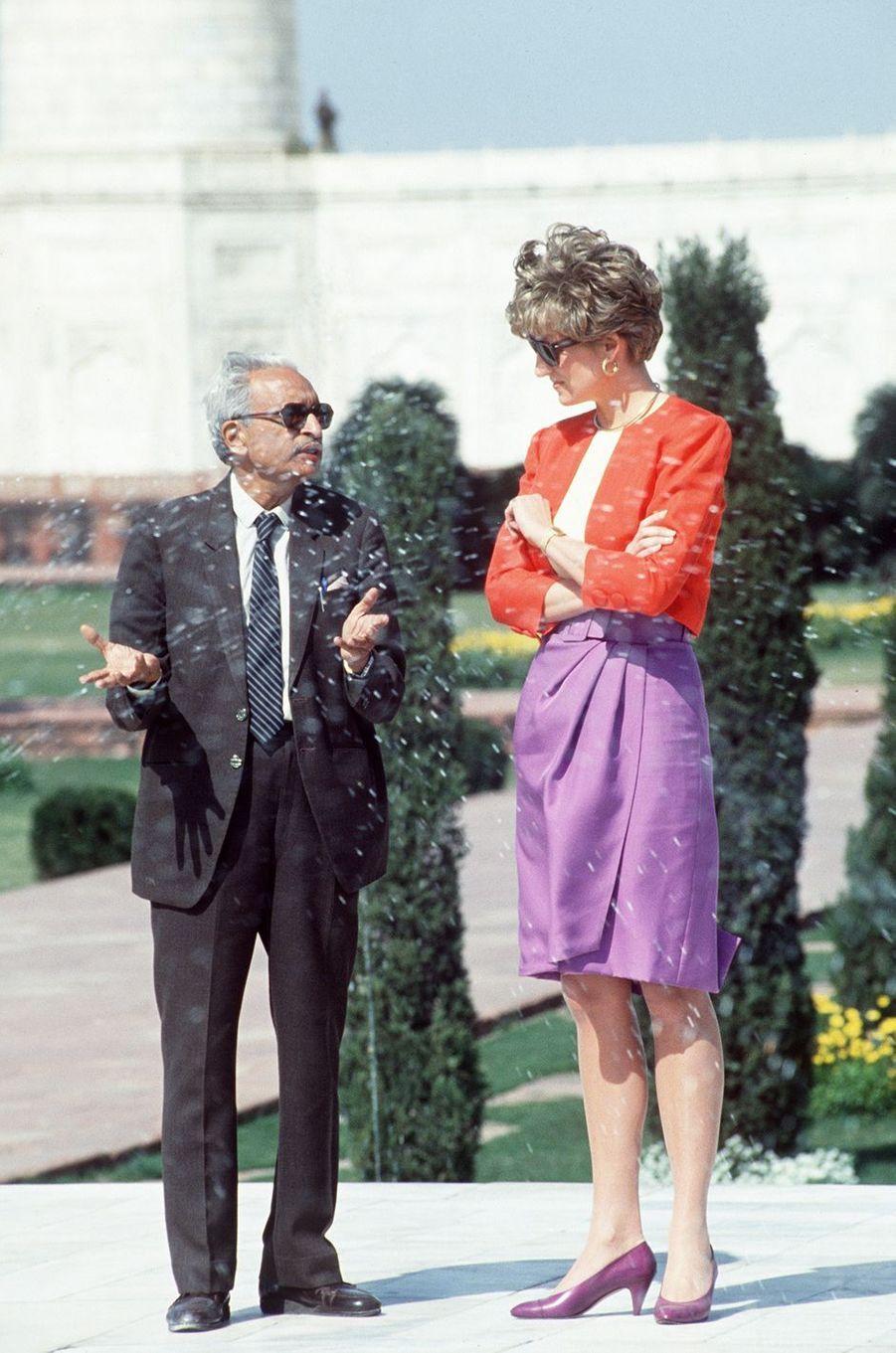 Lady Diana au Taj Mahal, le 11 février 1992