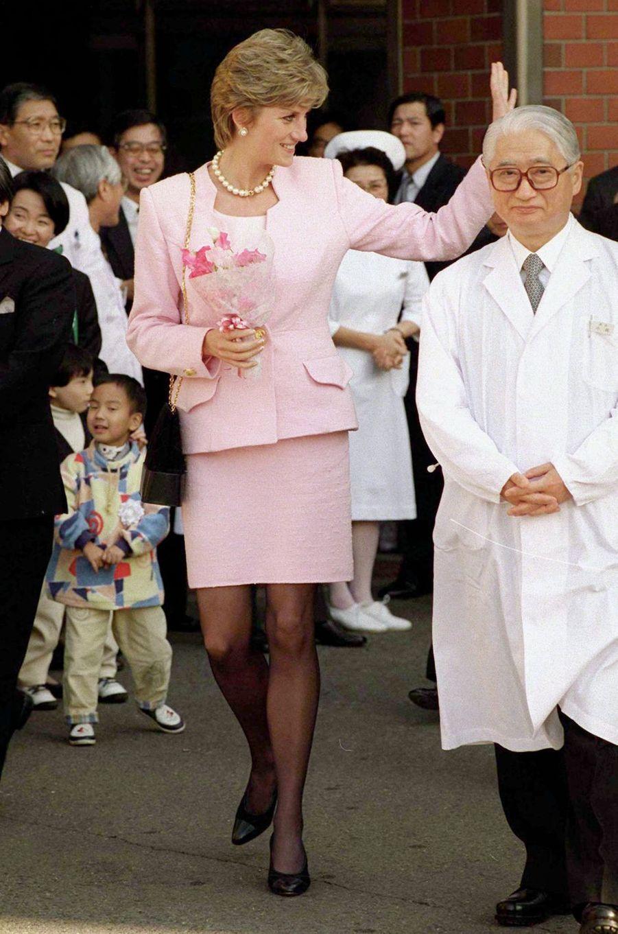 Lady Diana à Tokyo, le 6 février 1995