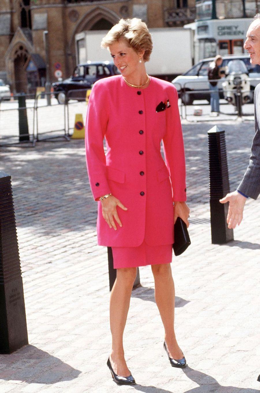 Lady Diana à Westminster, le 1er juin 1990