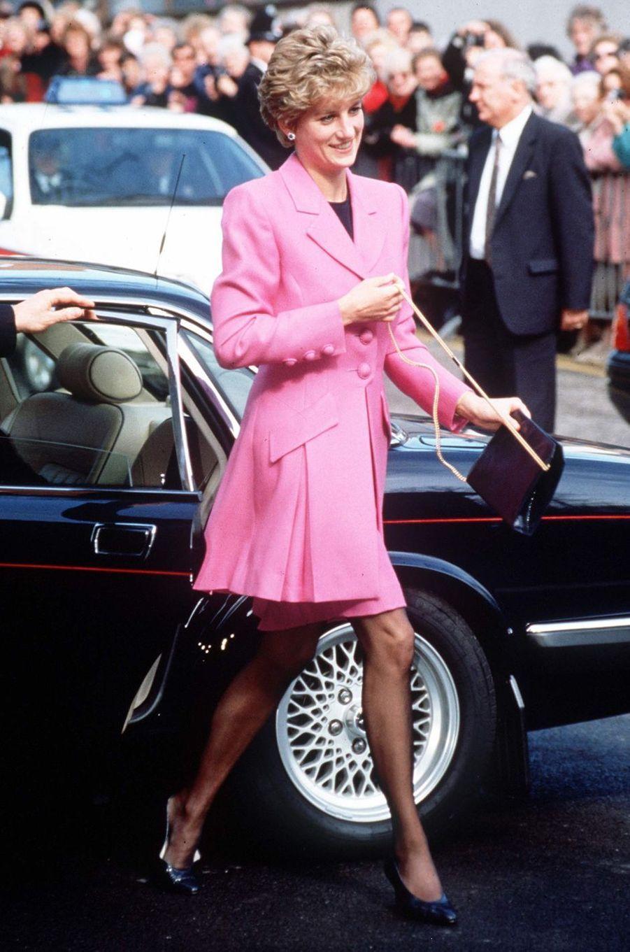 Lady Diana à Manchester, le 17 mars 1993