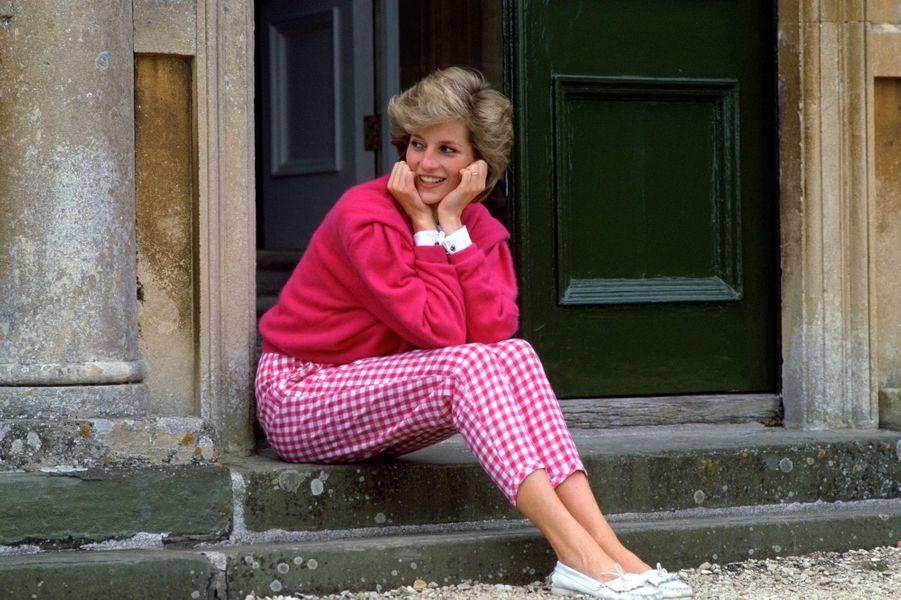 Lady Diana à Highgrove, le 17 juillet 1986
