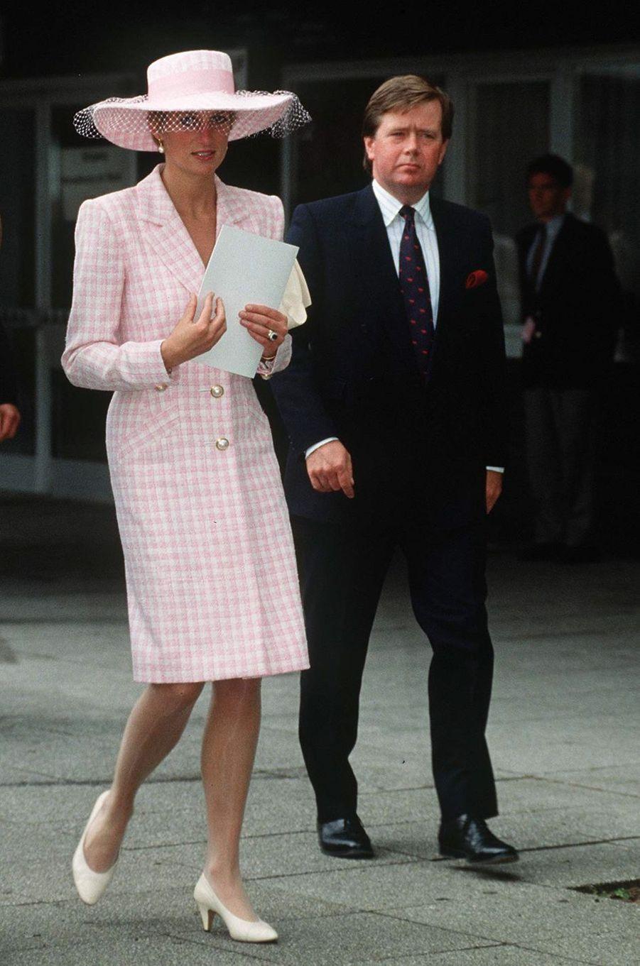 Lady Diana à Munster, le 10 juin 1991
