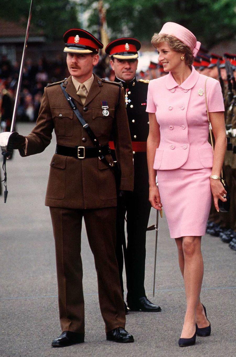 Lady Diana dans le Kent, le 20 mai 1995