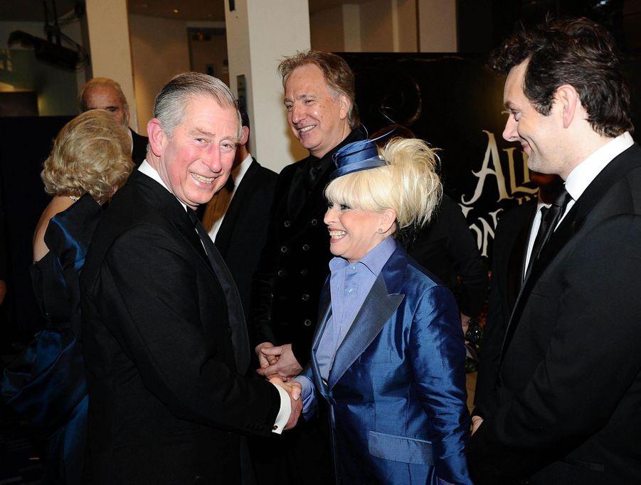 Le prince Charles avec Barbara Windsor, le 25 février 2010