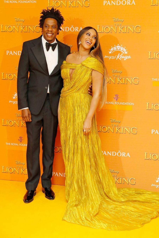 Beyoncé et Jay-Z à l'avant-première du film «Le Roi Lion» à Londres le 14 juillet 2019