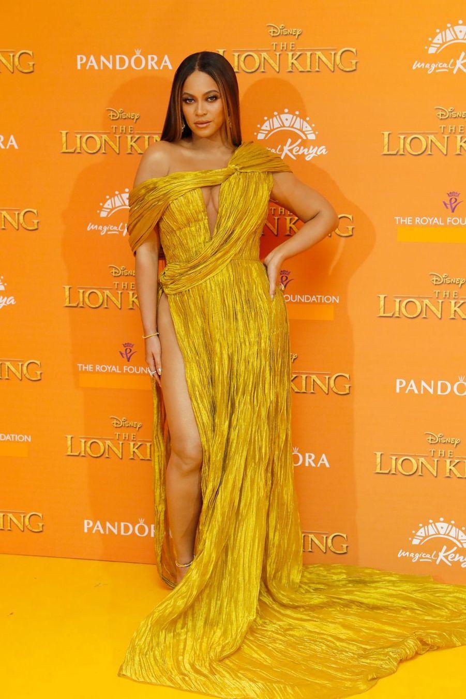 Beyoncé à l'avant-première du film «Le Roi Lion» à Londres le 14 juillet 2019