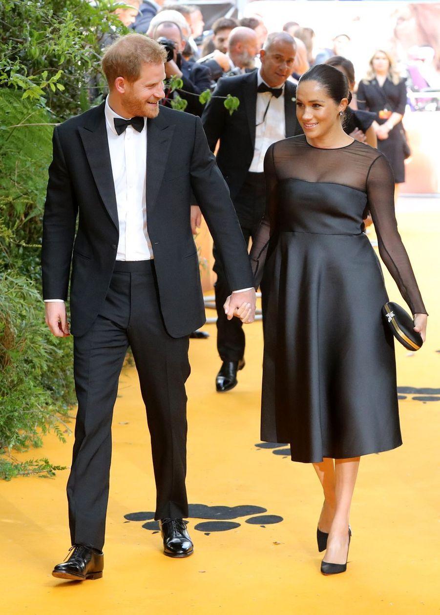 Le prince Harry et Meghan Markle à l'avant-première du film «Le Roi Lion» à Londres le 14 juillet 2019
