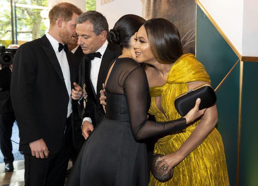 Le prince Harry, Meghan Markle et Beyoncé à Londres le 14 juillet 2019