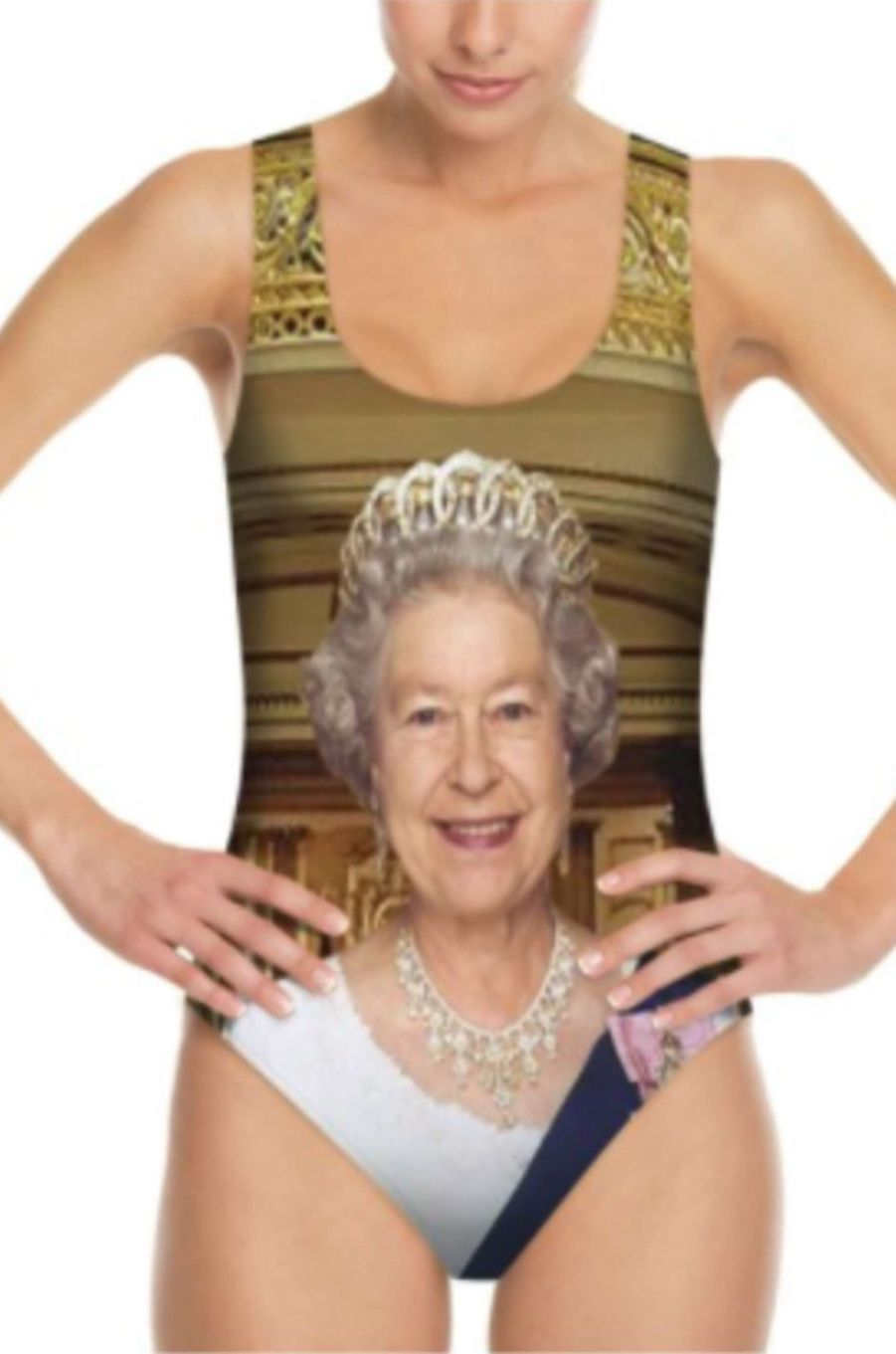 Le maillot de bain Bags of love version reine Elizabeth II