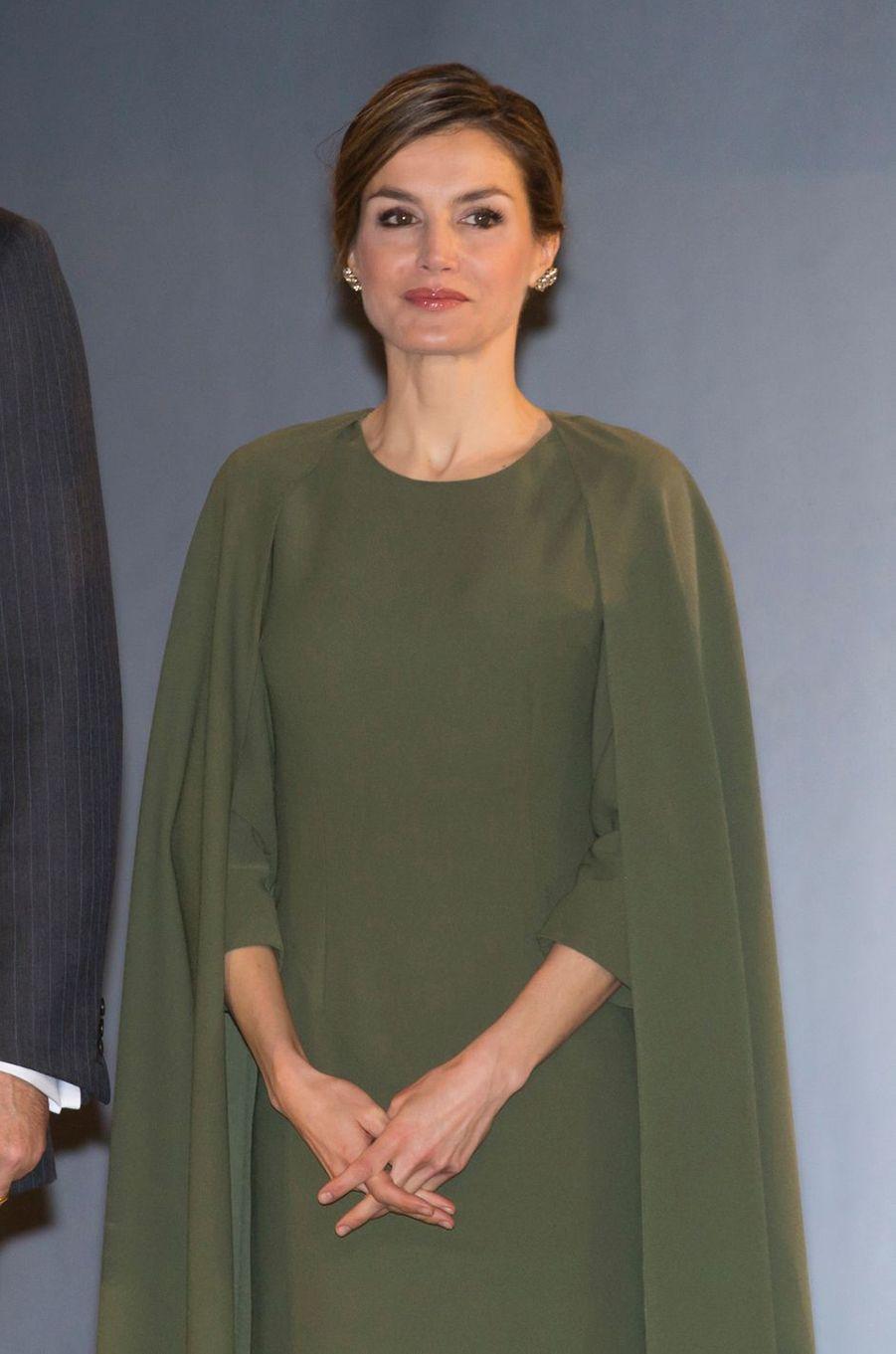 La reine Letizia d'Espagne le 6 février 2017