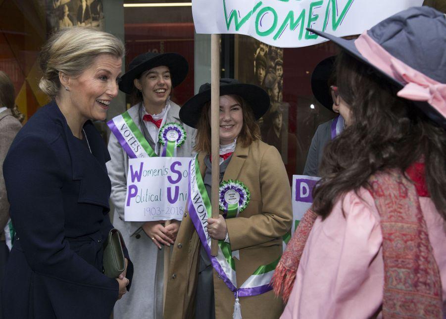 La comtesse Sophie de Wessex à Londres, le 22 novembre 2018