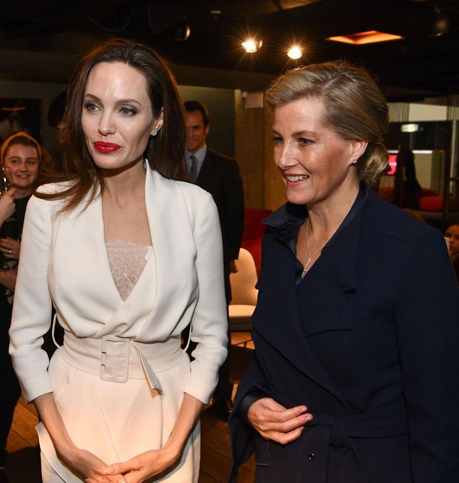 La comtesse Sophie de Wessex avec Angelina Jolie, le 23 novembre 2018 à Londres