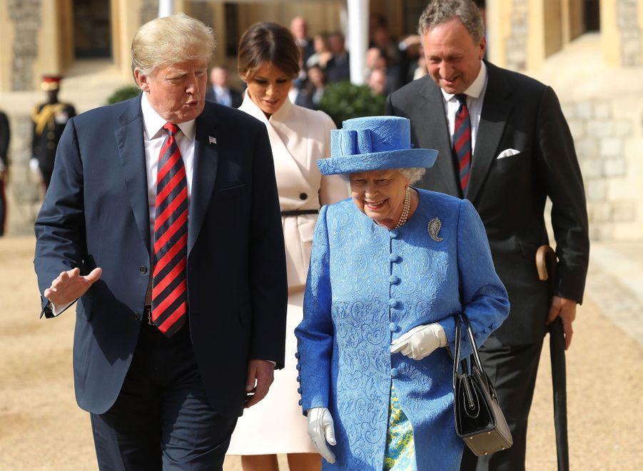 La reine Elizabeth II et Donald Trump au château de Windsor, le 13 juillet 2018