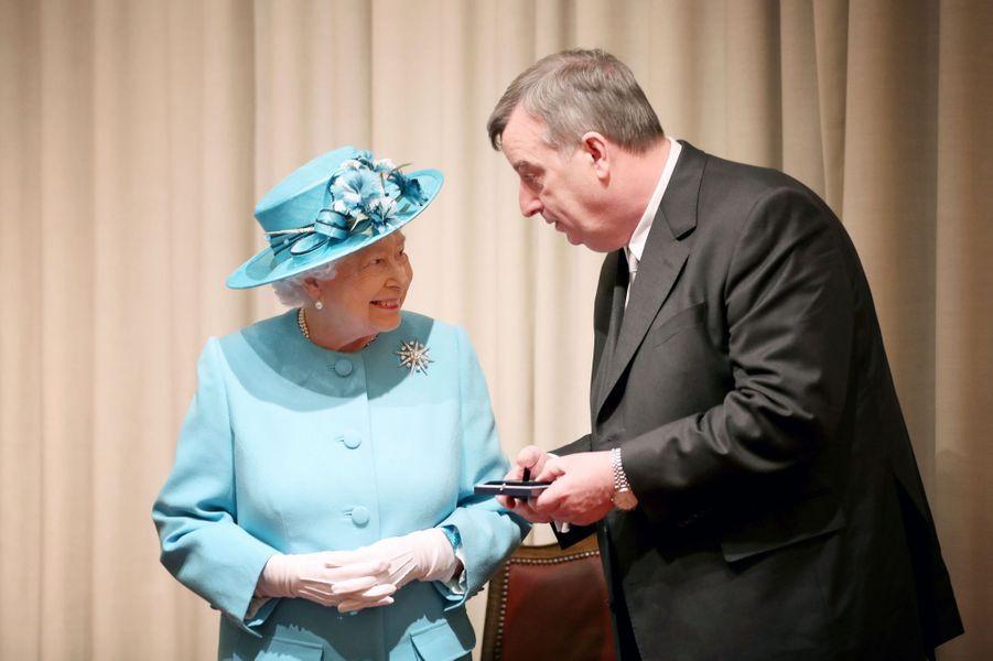 La reine Elizabeth II à Edimbourg, le 7 juillet 2017