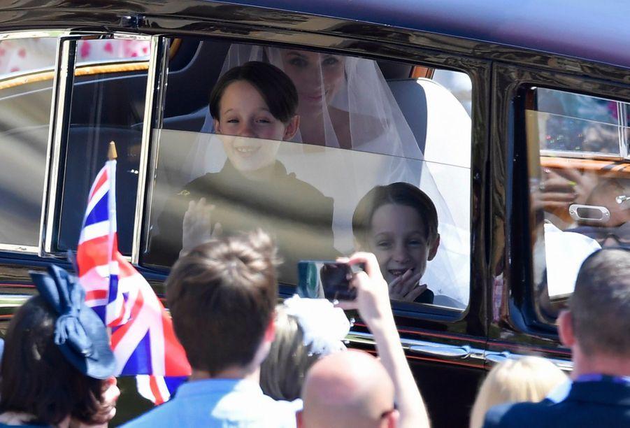 John et Brian Mulroney, les fils de Jessicaau mariage du prince Harry et Meghan Markle