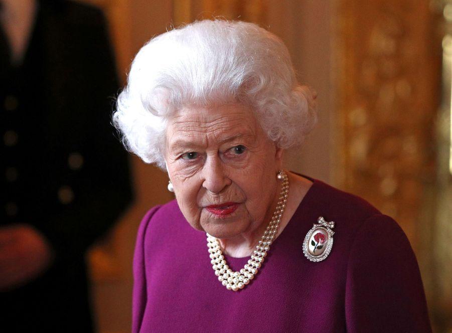 La reine Elizabeth II au château de Windsor, le 7 mai 2019