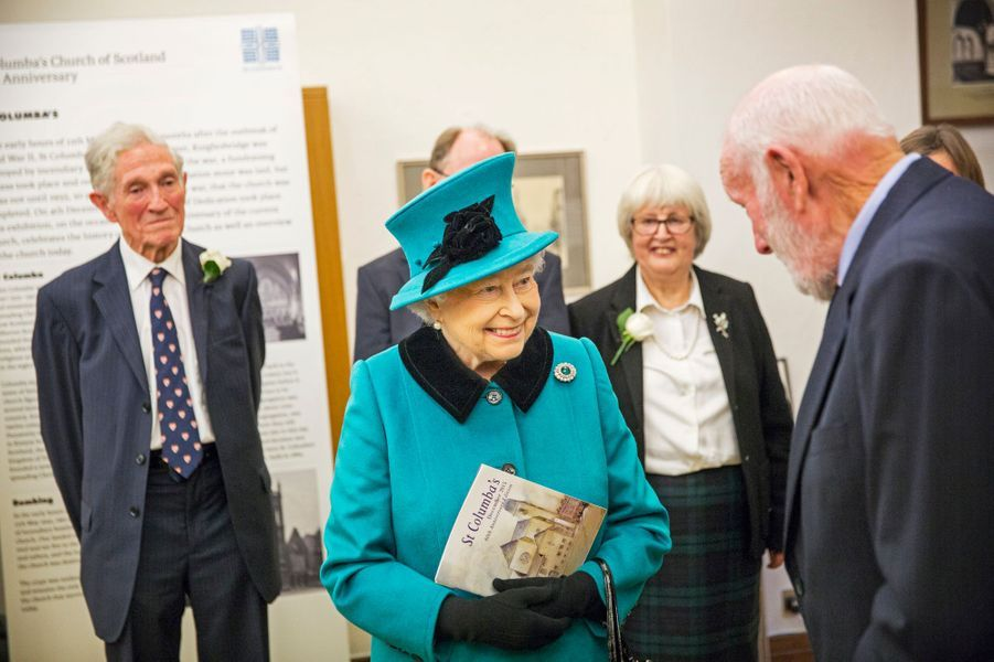 La reine Elizabeth II à l'église St Columba à Londres, le 3 décembre 2015
