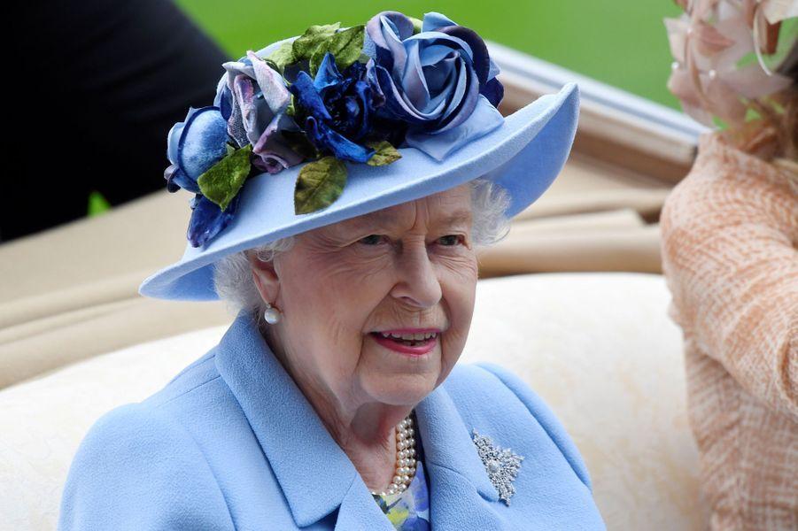 La reine Elizabeth II au Royal Ascot, le 18 juin 2019