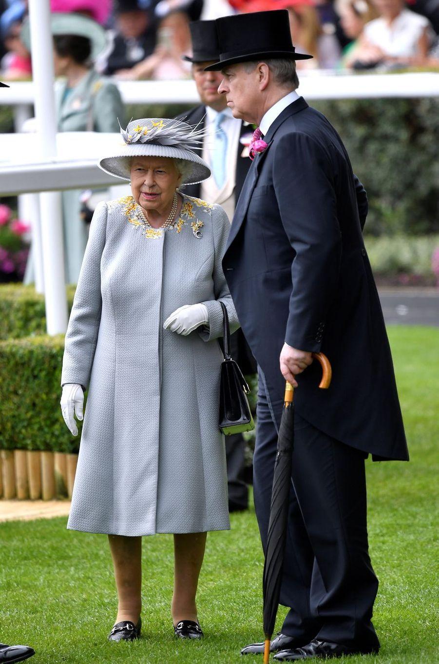 La reine Elizabeth II au Royal Ascot, le 20 juin 2019