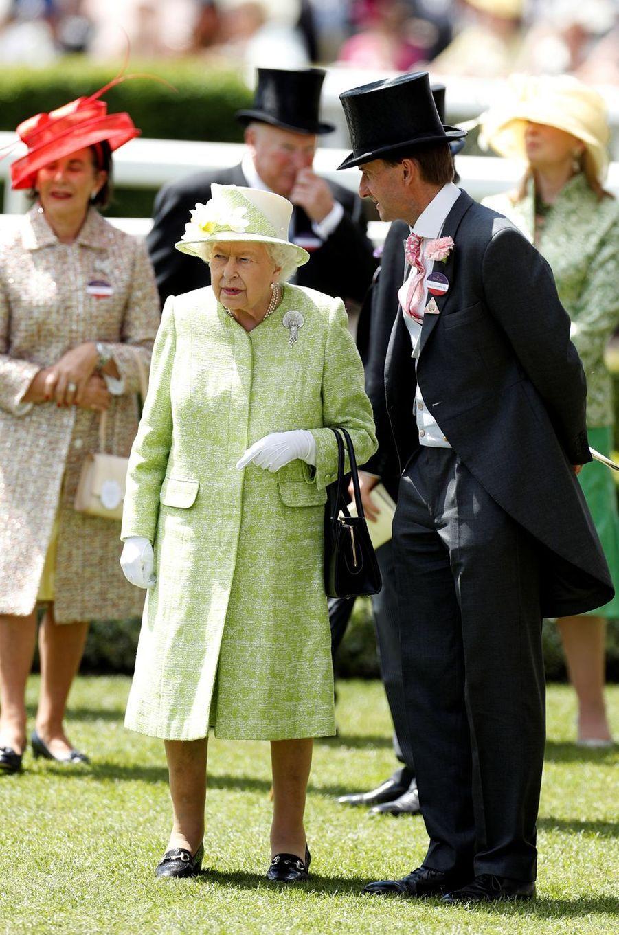 La reine Elizabeth II au Royal Ascot, le 22 juin 2019
