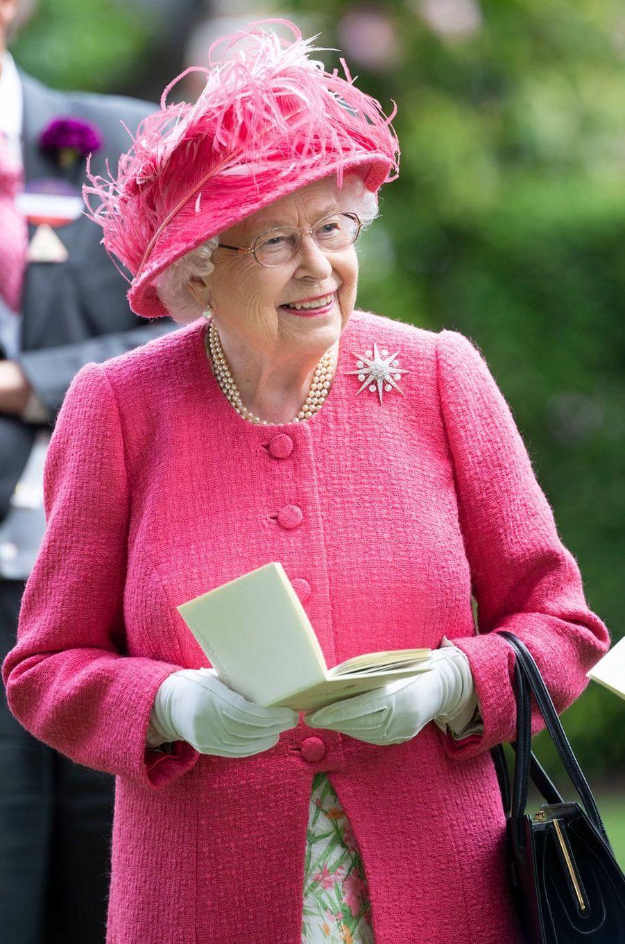 La reine Elizabeth II au Royal Ascot, le 21 juin 2019