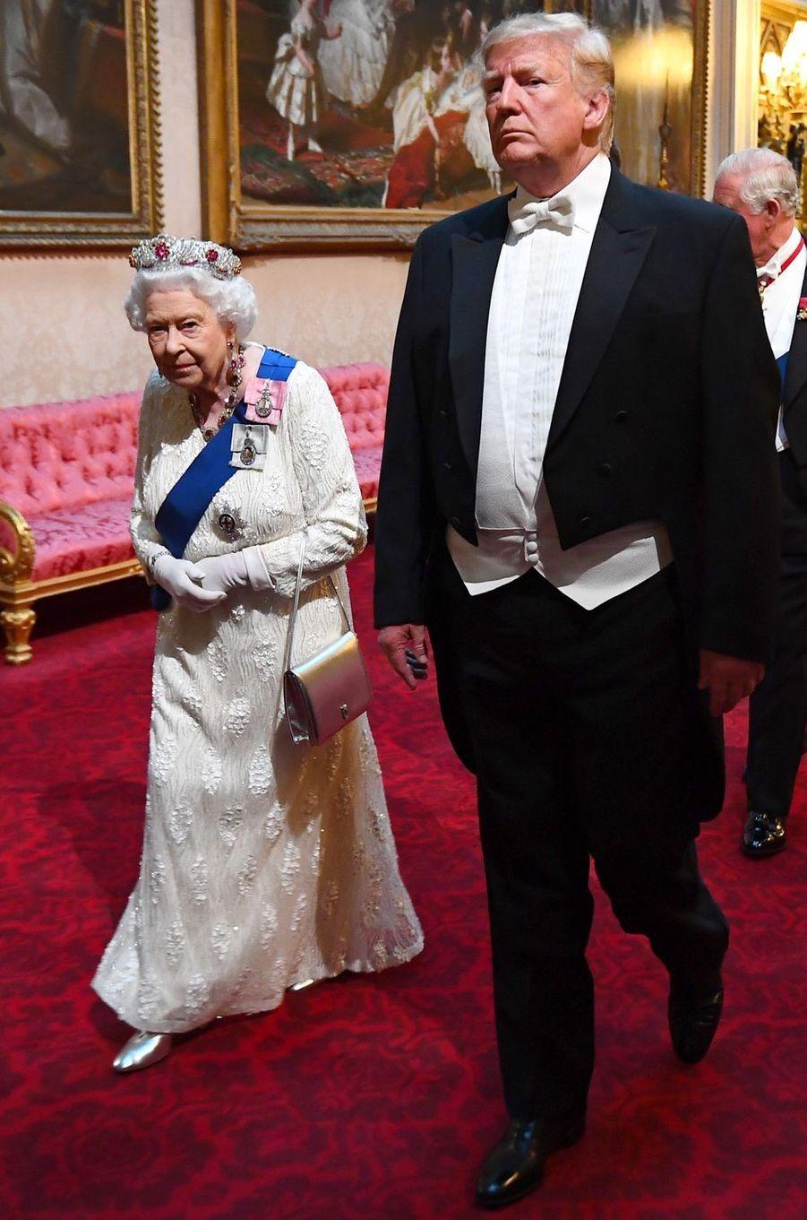 La reine Elizabeth II à Londres, le 3 juin 2019