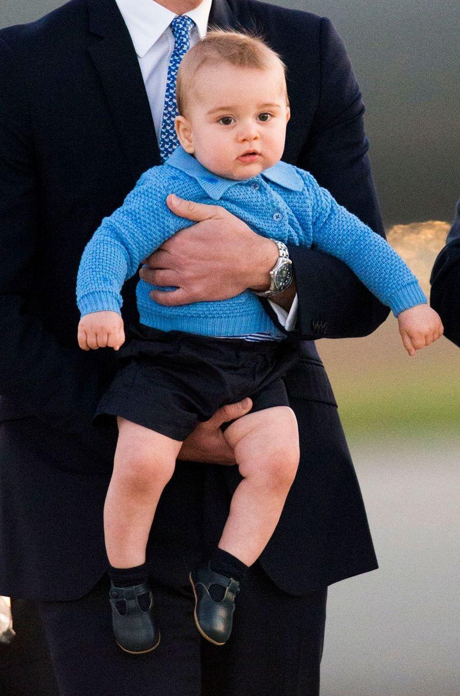 Le prince George à Canberra en Australie, le 20 avril 2014