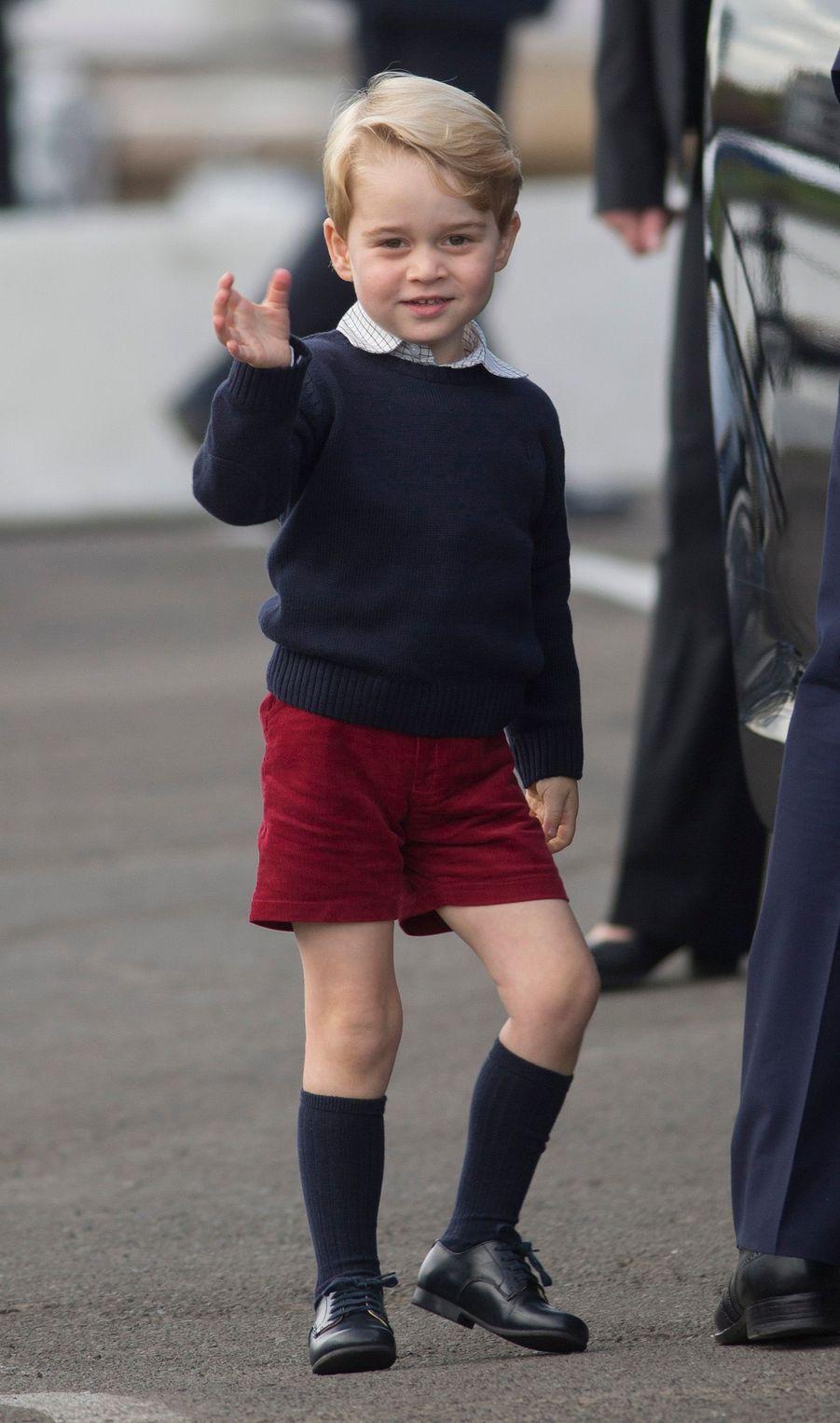 Le prince George à Victoria au Canada, le 1er octobre 2016