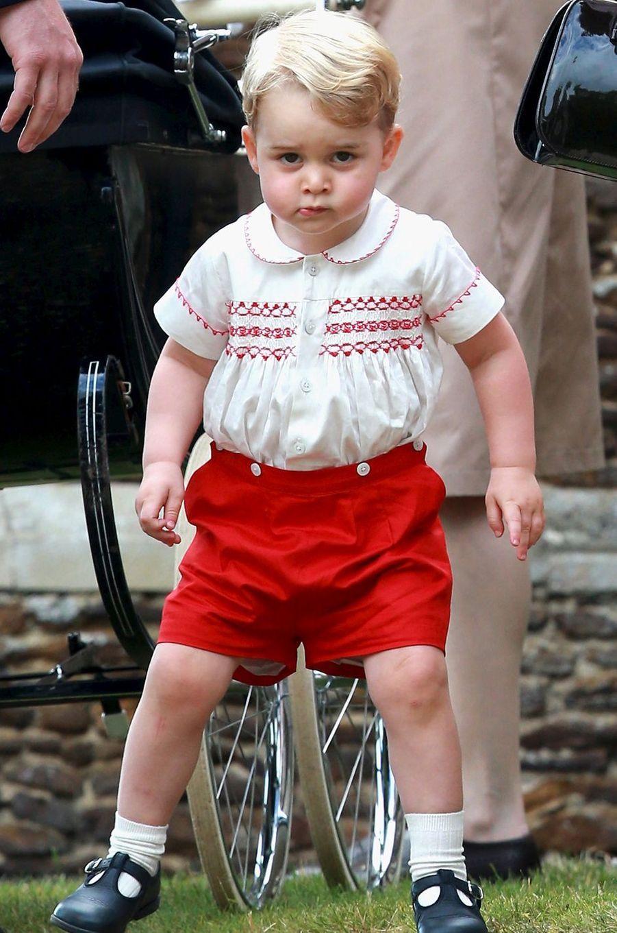 Le prince George à Sandringham, le 5 juillet 2015