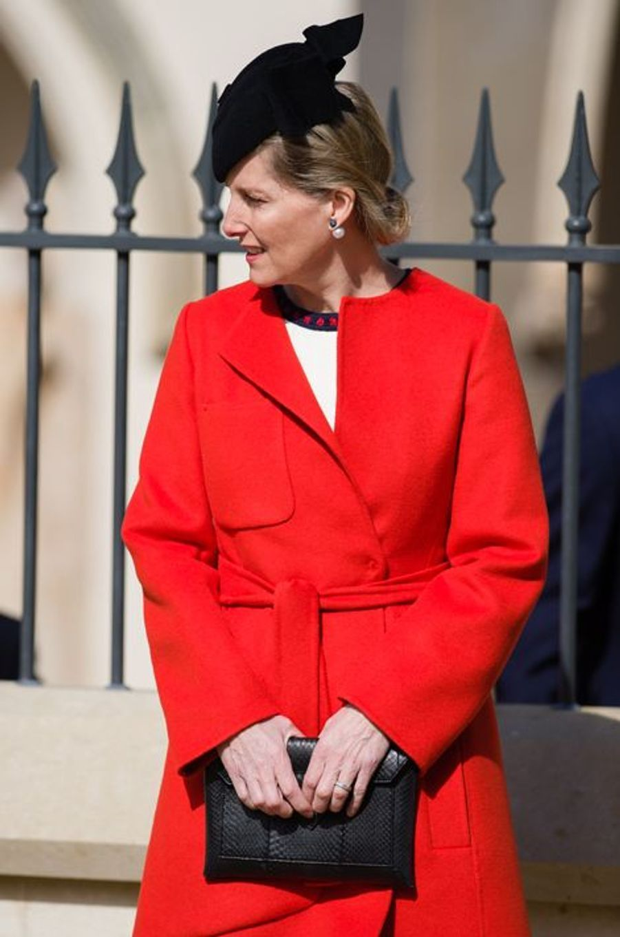 La comtesse Sophie de Wessex à la messe de Pâques à Windsor, le 27 mars 2016