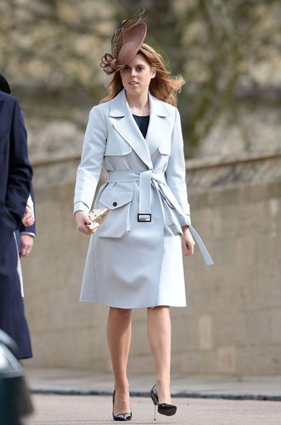 La princesse Beatrice d'York à la messe de Pâques à Windsor, le 27 mars 2016