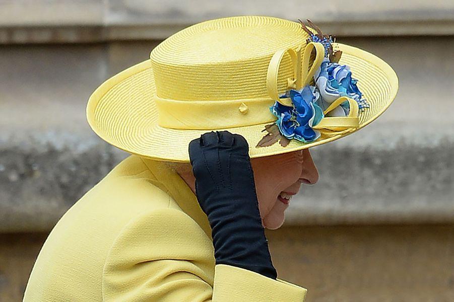La reine Elizabeth II à la messe de Pâques à Windsor, le 27 mars 2016