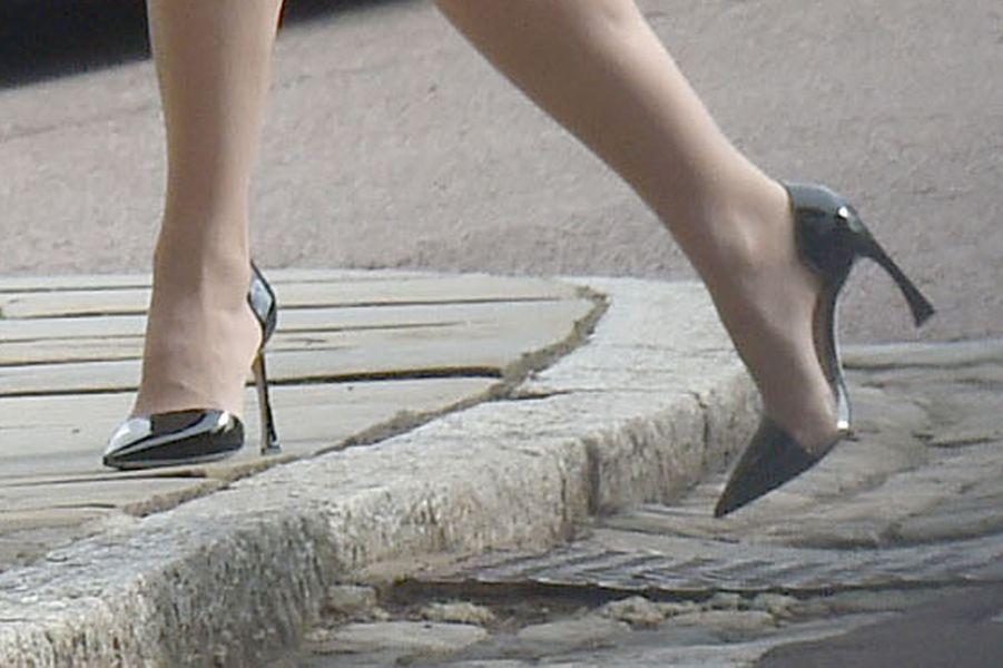 Les chaussures de la comtesse Sophie de Wessex à la messe de Pâques à Windsor, le 27 mars 2016